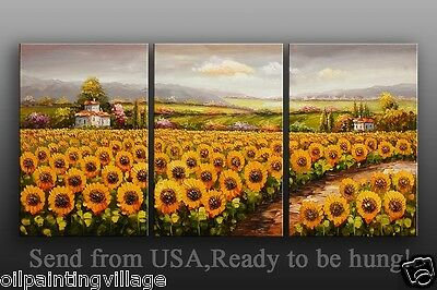 Original Oil Painting on stretched canvas - Wall Art Deco Flowers Garden