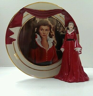 Gone with the Wind REFLECTIONS OF SCARLETT Smoldering Passion Figurine Plate