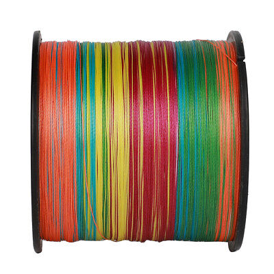 4/8 Strands 100 300 500 1000M PE Dyneema Braided Fishing Line Multicolor 6-300LB