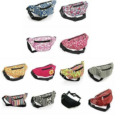 Bum Bag fanny Pack Festival Money Waist Pouch Travel Canvas Belt Holiday Wallet