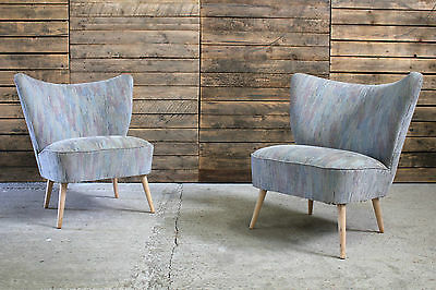 Vintage Retro Mid Century Modern Danish Cocktail Easy Lounge Club Chairs