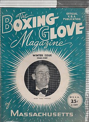 RARE - Boxing Glove Magazine of Massachusetts - Winter issue 1948-1949 Vintage!