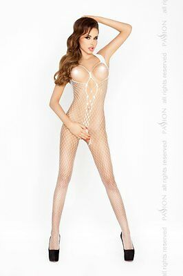 "Bodystocking ""BS014"" Damen-Body Catsuit ouvert Netz-Damenbody weiß von Passion"
