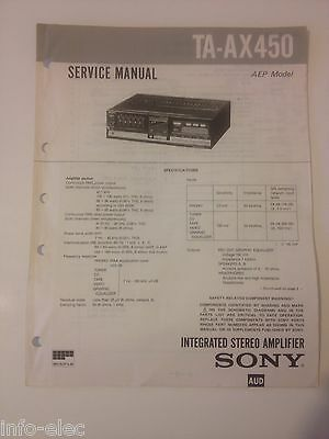 Schema SONY - Service Manual Integrated Stereo Amplifier TA-AX450 TAAX450