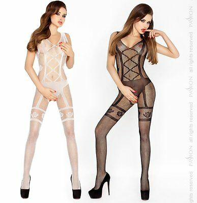 "Bodystocking ""BS018"" Damen-Body Catsuit ouvert Netz-Damenbody Passion Dessous"