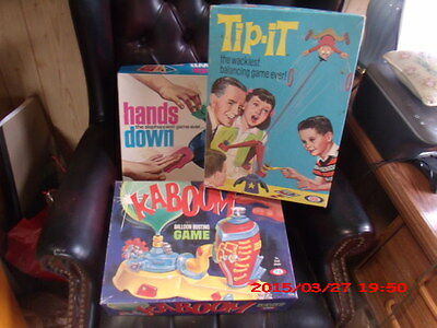 vintage board games one lot, 1960's to 70's, boys and girls, ideal game sets