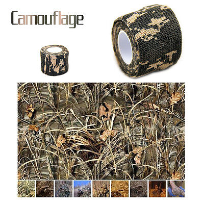 New 1pcs x Camo Tree Outdoor Hunting Camping Camouflage Stealth Tape Waterproof