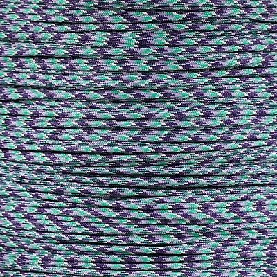 Napa Valley 550 Paracord Type III 7 strand parachute cord 100 ft Woven Purple