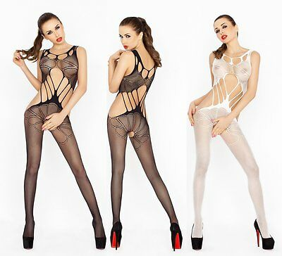 "Bodystocking ""BS030"" Damen-Body Catsuit ouvert Netz-Damenbody Passion Dessous"