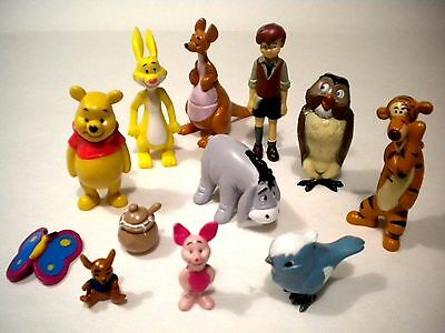 NEW Disney Winnie the Pooh Toy Figure Book - Cup Cake Topper Figurines Party Set