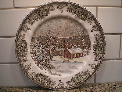 """Johnson Bros. Brothers Friendly Village The School House Dinner 9-3/4"""" Plate"""