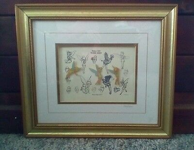 Tinker Bell's Sketch Limited Edition Pin Set, numbered, framed COA attached !