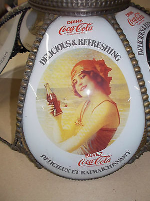 Coca Cola  Stained Glass Style celling Lamp Shade Replacement lot - 02