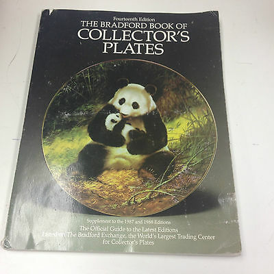The Bradford Book of Collector's Plates Paperback Collection Guide Book 1990