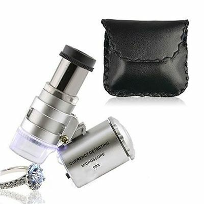 60X Magnifying Magnifier Jeweler Eye Jewelry Loupe Loop Led Light