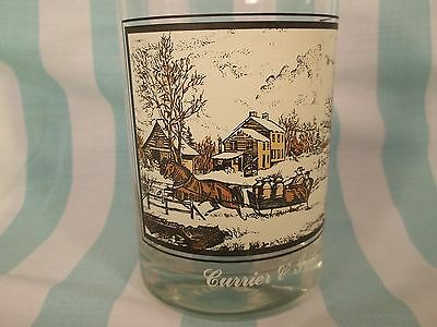 This Currier & Ives 'American Homestead Winter' Glass was made for Arbys 12 oz