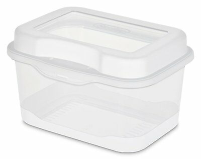 Sterilite 18018612 Micro Flip Top Clear 12 Pack , New, Free Shipping