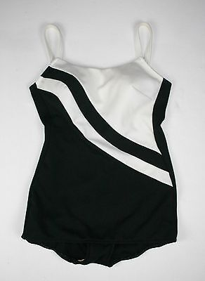 Vintage 50's 60's B&W Swimsuit // Bombshell Pin Up Rockabilly // S to M // 737