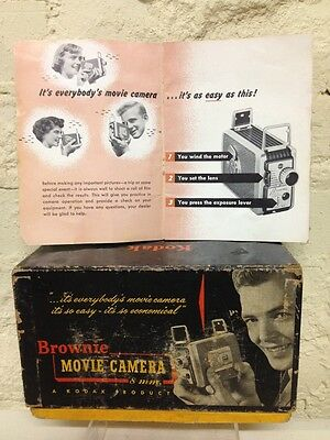 Vintage Kodak Brownie 8 mm Movie Camera BOX & Instructions ONLY