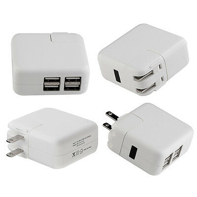 12W 4-port USB AC Power Adapter Wall Home Travel Charger Adaptor for iPhone iPad