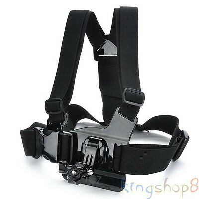 Adjustable Chest Body Harness Belt Strap Mount For Sony Action Cam & GoPro Hero