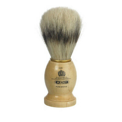 Kent VS80 Small Mens Pure Bristle Badger Effect Wooden Wood Socket Shaving Brush