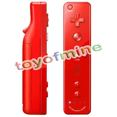 Red Nintendo Wii mote Built in Motion Plus Inside Remote Controller