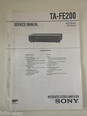 Schema SONY - Service Manual Integrated Stereo Amplifier TA-FE200 TAFE200