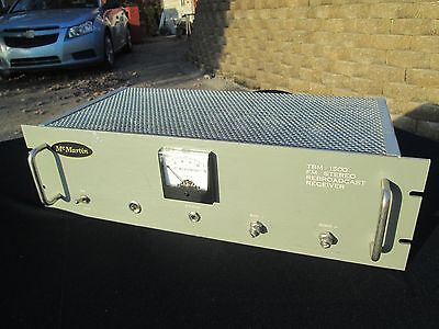 McMartin TBM 1500 FM Stereo Rebroadcast Receiver, untested, sold as is for parts