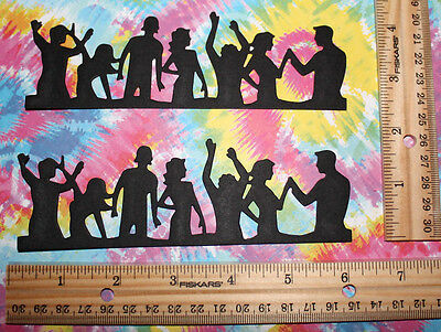 BLK PARTY PEOPLE  SET  paper embellishment for scrapbook & card making ( sizzix