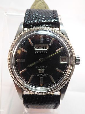 Vintage CITIZEN 7 Auto Day Date 25 Jewels Automatic Men's Old Watch Superking