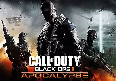 Call Of Duty Black Ops 2 Ii Apocalypse Game Wall Art Poster - (A1 - A5 Sizes)
