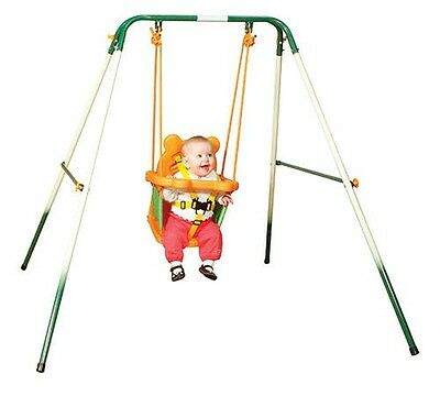 Sports Power Folding Indoor Outdoor Toddler Play Swing Set Baby Playground