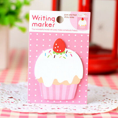 Cupcake Sticker Post It Bookmark Mark Index Tab Memo Notepad Sticky Notes