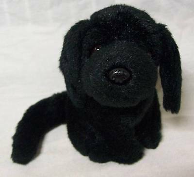 "Russ CUTE LITTLE BLACK LAB LABRADOR PUPPY DOG 5"" Plush STUFFED ANIMAL Toy"