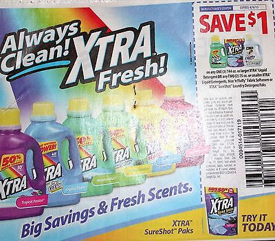 (20) $1.00 off  ANY XTRA Detergent/Nice & Fluffy/SureShot paks