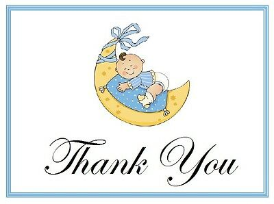 25 Personalized BABY SHOWER Favors  Custom THANK YOU Note CARDS Group #7