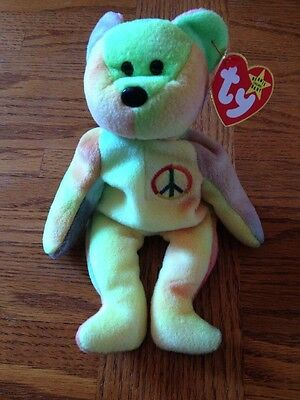 """Peace"" TY Beanie Baby Retired PVC Pellets VALUABLE"