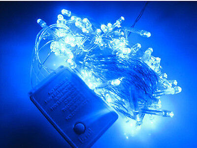 100 LED 10M Fairy String Lights Wedding Party Christmas Decoration Blue
