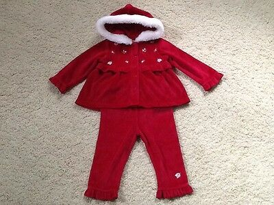 NWT FIRST IMPRESSIONS baby Girls Hooded 2 Piece Garment Outfit. Size: 12 Months