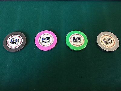 400 Paulson Casino Weight Chips. Perfect Texas Hold'em Set