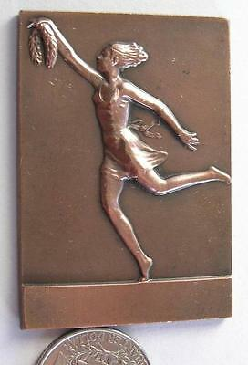 Young Female with Wreath,antique bronze plaque