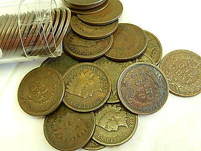 COMPLETE ROLL (50) - 1889 INDIAN HEAD CENTS - HIGH BID WINS $1.NR