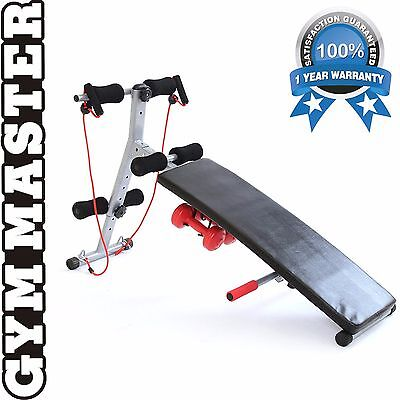 AB Sit Up Bench Folding Home Abdominal Crunch Workout Fitness Exercise Gym