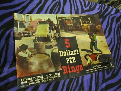 FIVE DOLLARS FOR RINGO Rare MOVIE POSTER 1966 WESTERN Cowboys CLINT EASTWOOD ERA