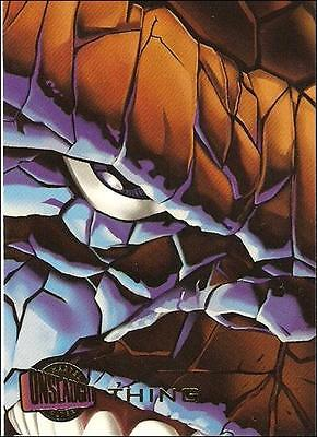 1996 Fleer Ultra Onslaught card #44 THING 96 x-men new avengers x-force
