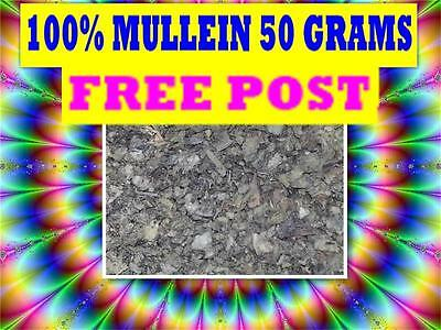 MULLEIN 50G TEA ☆100% Verbascum thapsis☆DRIED HERB☆ PREMIUM STOCK☆ FREE POST