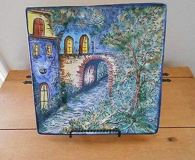 BEAUTIFUL HAND PAINTED LANDSCAPE PLATE SIGNED BY CONTRERAS MADE IN MEXICO