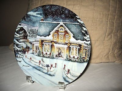 """Bradford Exchange-Christmas Memories Coll-""""Welcome to Our Home"""" #3867A"""