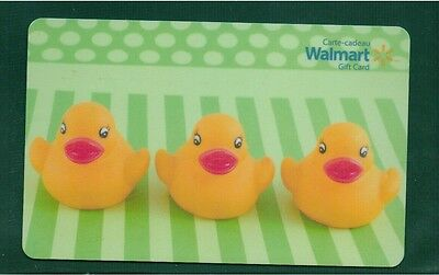 NEW Walmart 2015 Gift Card Kids Ducky collectible no value